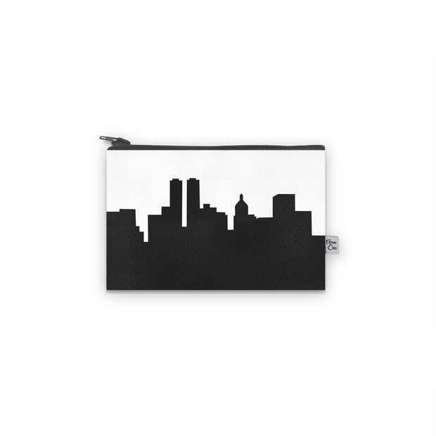 Peoria IL Skyline Mini Wallet (Vegan Leather)