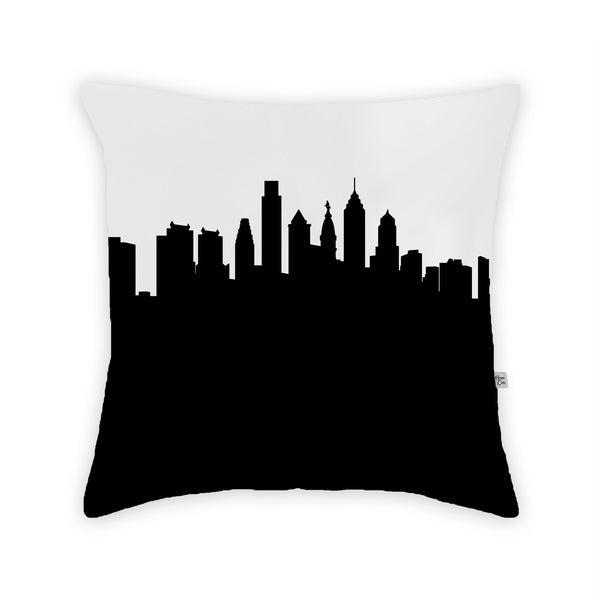 Philadelphia Large Throw Pillow by Anne Cate