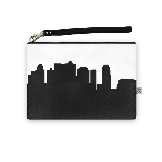 Phoenix AZ Skyline Wristlet Clutch (Vegan Leather)