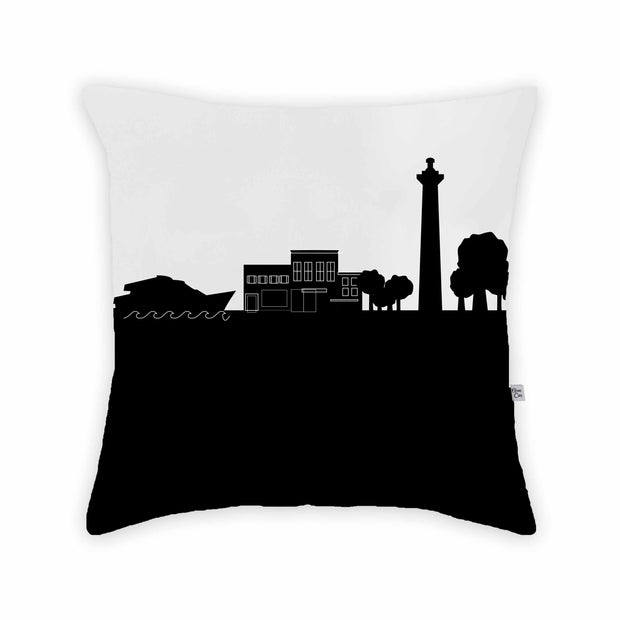Put in Bay OH Skyline Large Throw Pillow