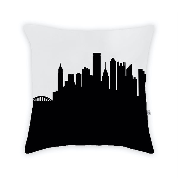 Pittsburgh Large Throw Pillow by Anne Cate