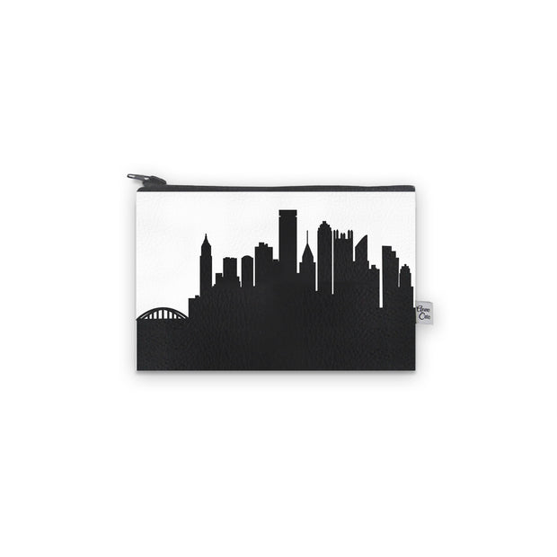 Pittsburgh PA Skyline Mini Wallet (Vegan Leather)