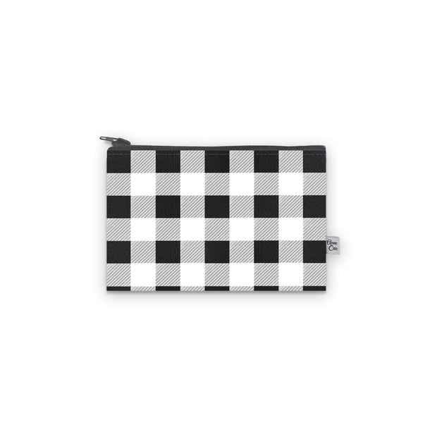Timeless Plaid Mini Wallet (Vegan Leather)