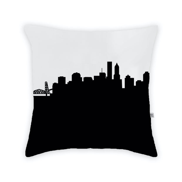 Portland OR Skyline Large Throw Pillow