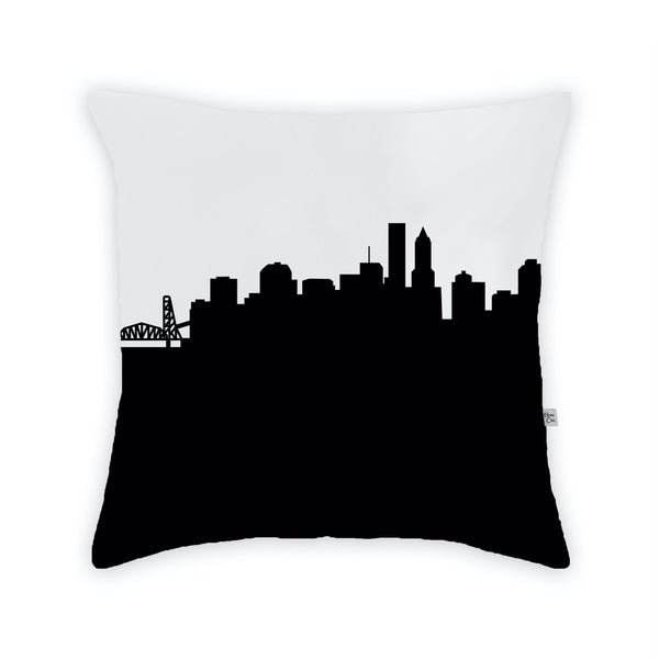 Portland Large Throw Pillow by Anne Cate