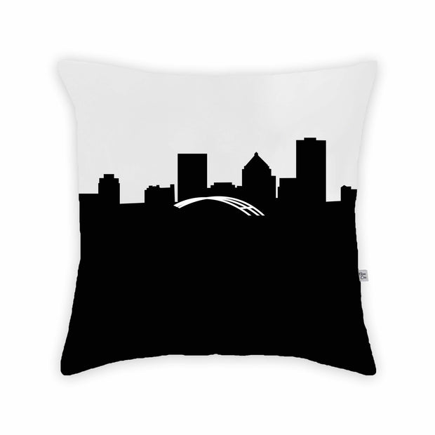 Rochester NY Skyline Large Throw Pillow
