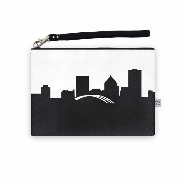Rochester NY Skyline Wristlet Clutch (Vegan Leather)