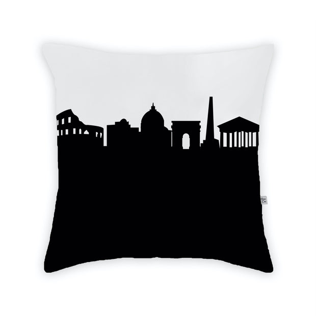 Rome Italy Skyline Large Throw Pillow