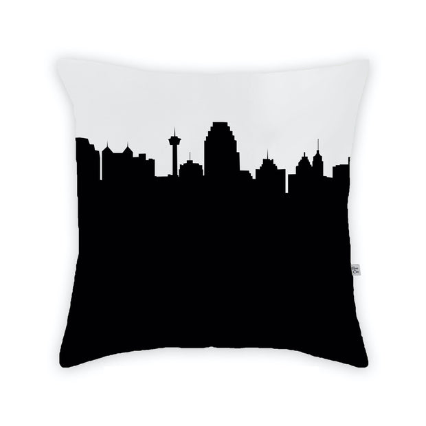 San Antonio TX Skyline Large Throw Pillow