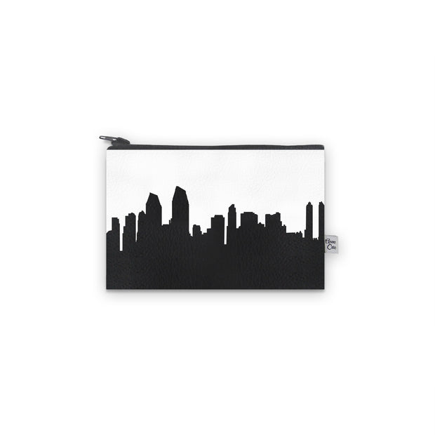 San Diego CA Skyline Mini Wallet (Vegan Leather)
