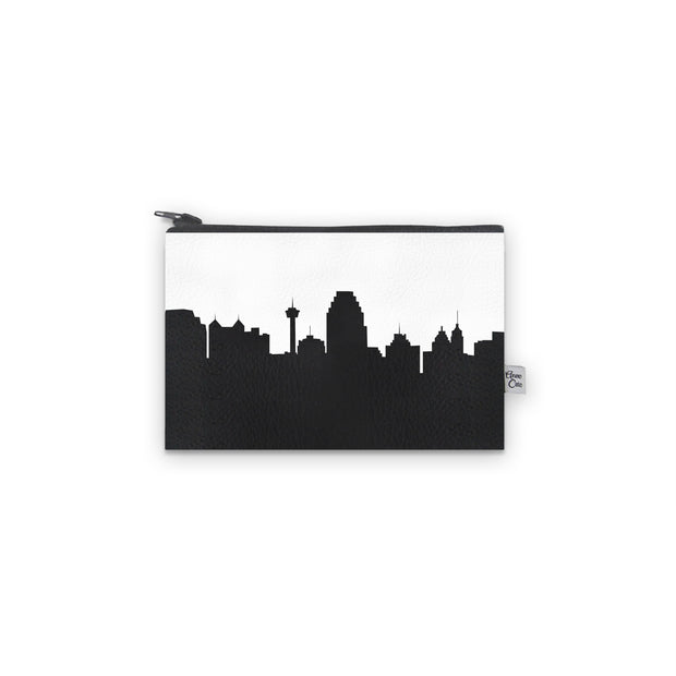San Antonio TX Skyline Mini Wallet (Vegan Leather)