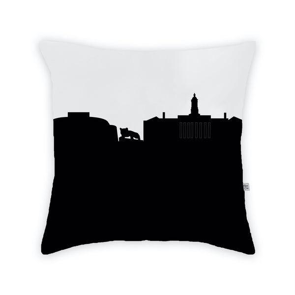 Penn State College Large Throw Pillow by Anne Cate