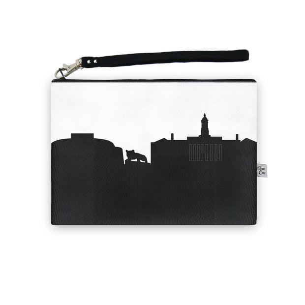 State College PA Skyline Wristlet Clutch (Vegan Leather)