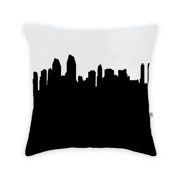 San Diego Large Throw Pillow by Anne Cate