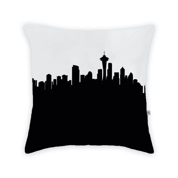 Seattle Large Throw Pillow by Anne Cate