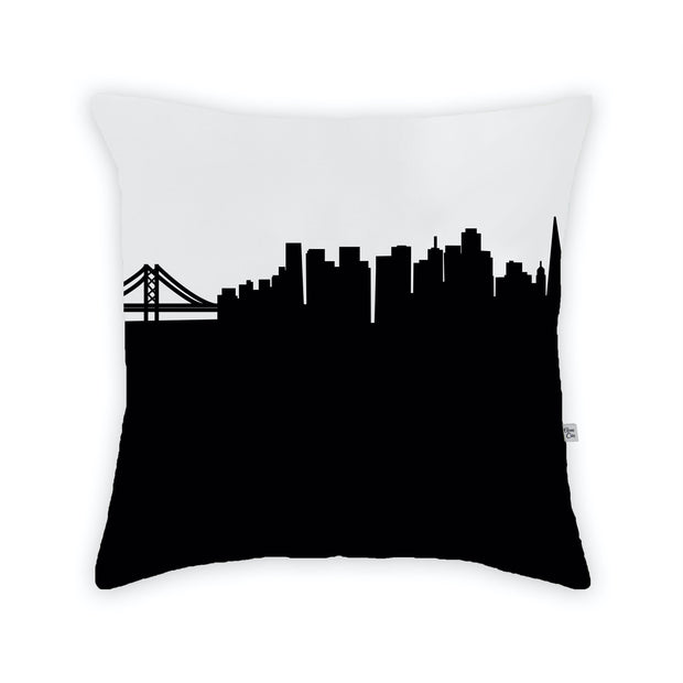 San Francisco CA Skyline Large Throw Pillow