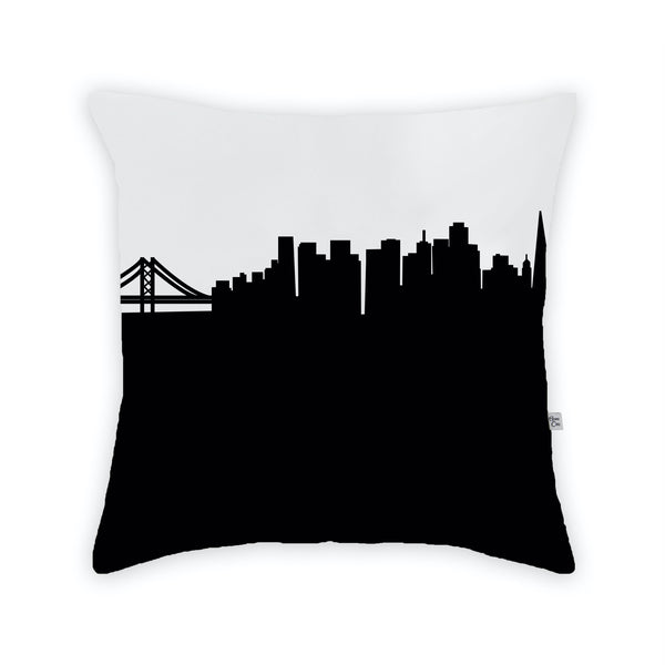 San Francisco Large Throw Pillow by Anne Cate