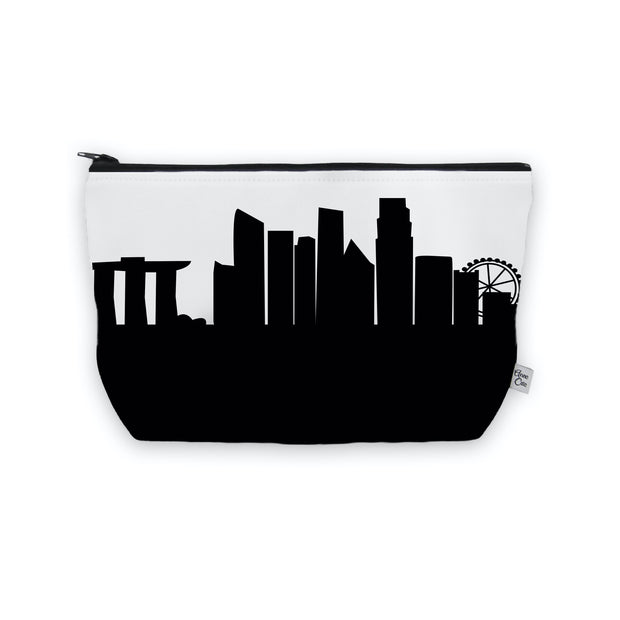 Singapore Skyline Cosmetic Makeup Bag