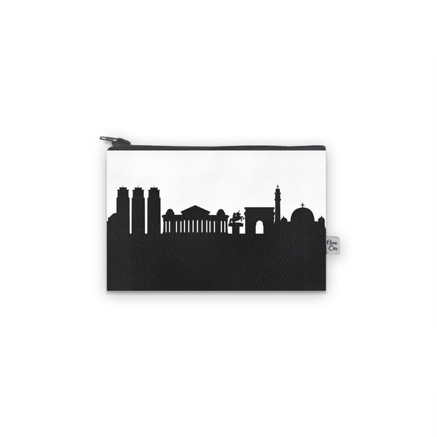 Skopje Macedonia Skyline Mini Wallet (Vegan Leather)