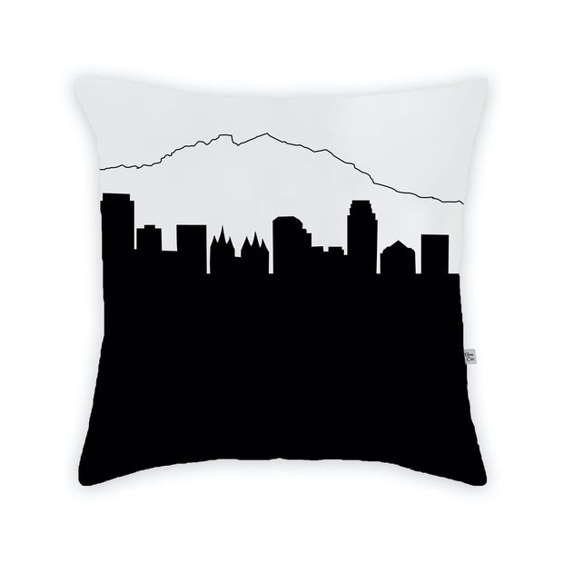 Salt Lake City UT Skyline Large Throw Pillow