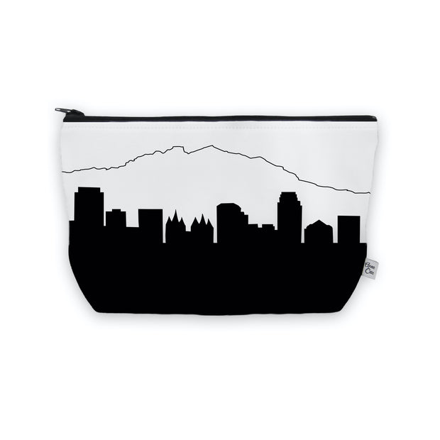 Salt Lake City UT Skyline Cosmetic Makeup Bag