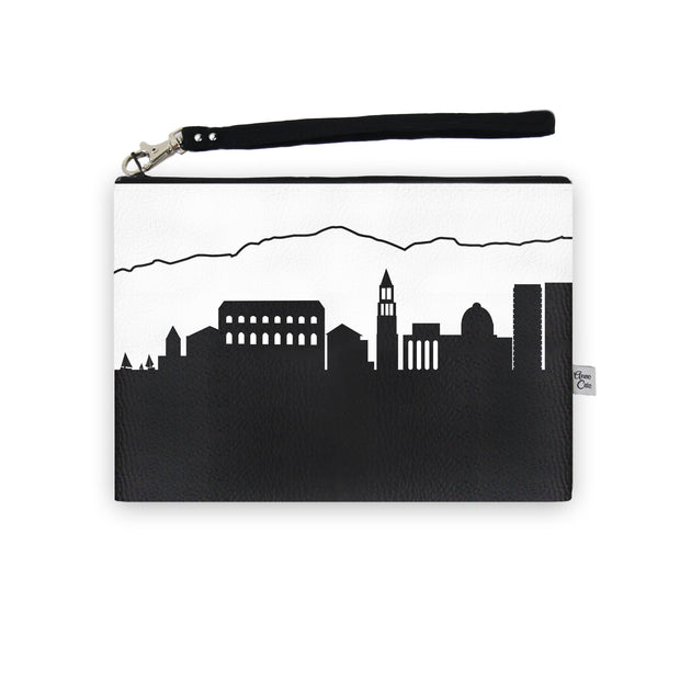 Split Croatia Skyline Wristlet Clutch (Vegan Leather)