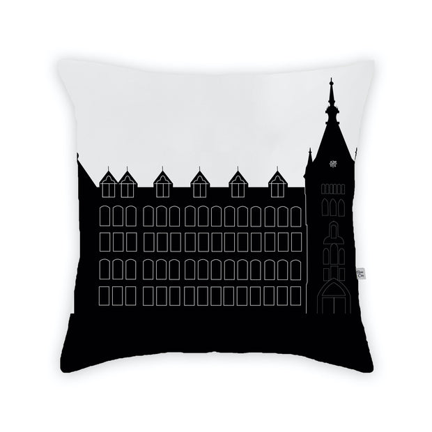 Cleveland OH (St. Ignatius High School) Skyline Large Throw Pillow