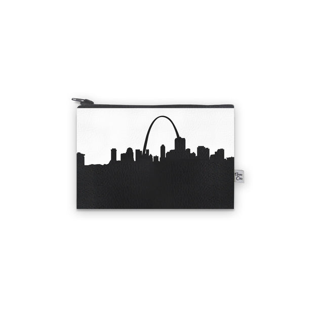St. Louis MO Skyline Mini Wallet (Vegan Leather)