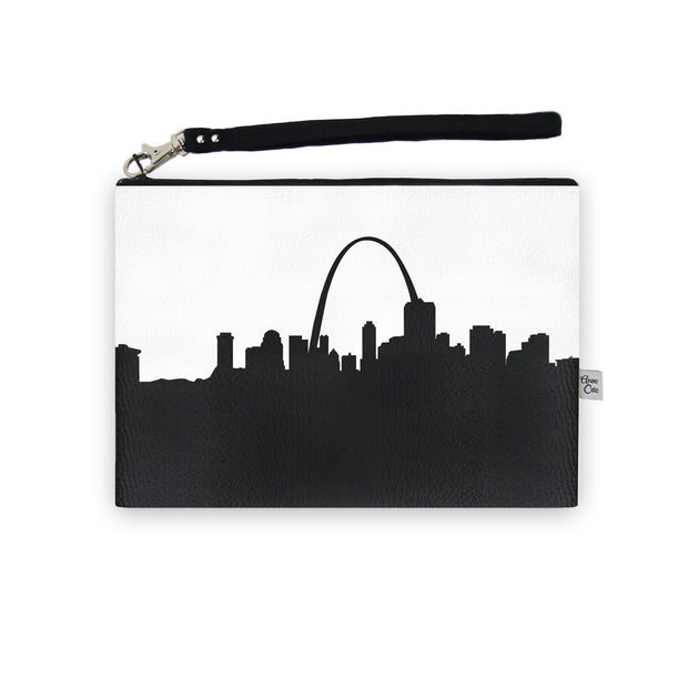 St. Louis MO Skyline Wristlet Clutch (Vegan Leather)