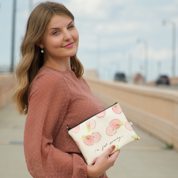 Just Peachy Wristlet Clutch - Deanna First x Anne Cate