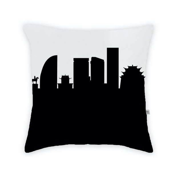 Ulaanbaatar Mongolia Skyline Large Throw Pillow