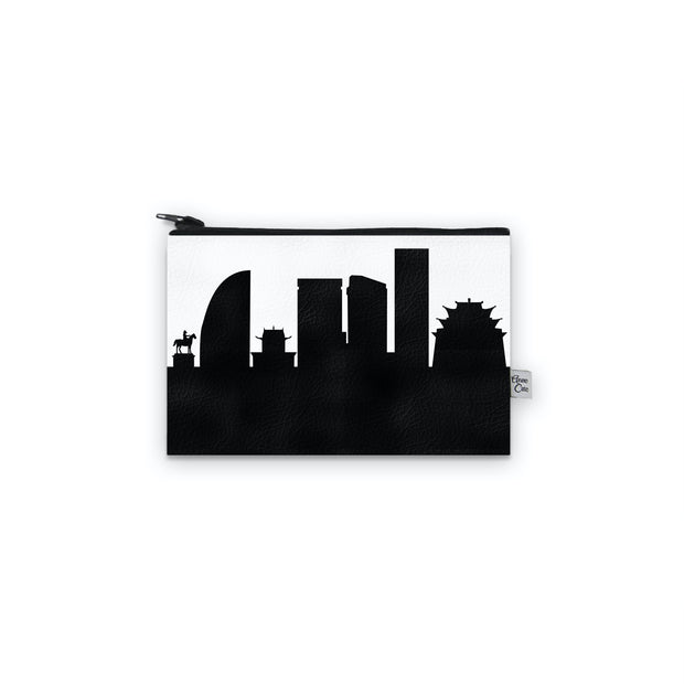 Ulaanbaatar Mongolia Skyline Mini Wallet (Vegan Leather)