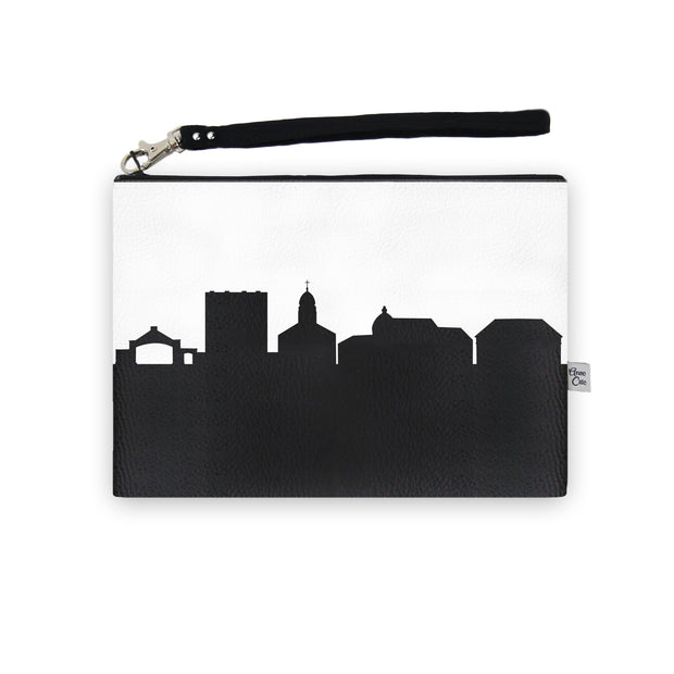Dayton OH (Univ. of Dayton) Skyline Wristlet Clutch (Vegan Leather)