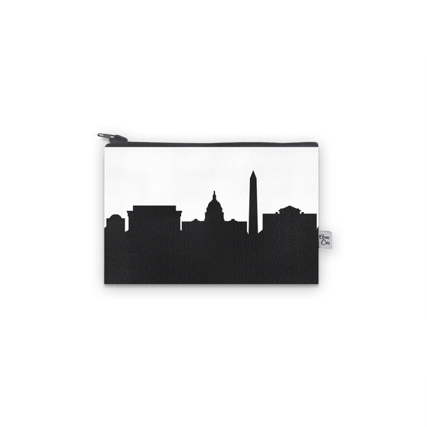 Washington D.C. Skyline Mini Wallet (Vegan Leather)