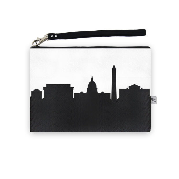 Washington D.C. Skyline Wristlet Clutch (Vegan Leather)