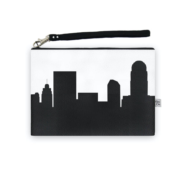 Winston Salem NC Skyline Wristlet Clutch (Vegan Leather)