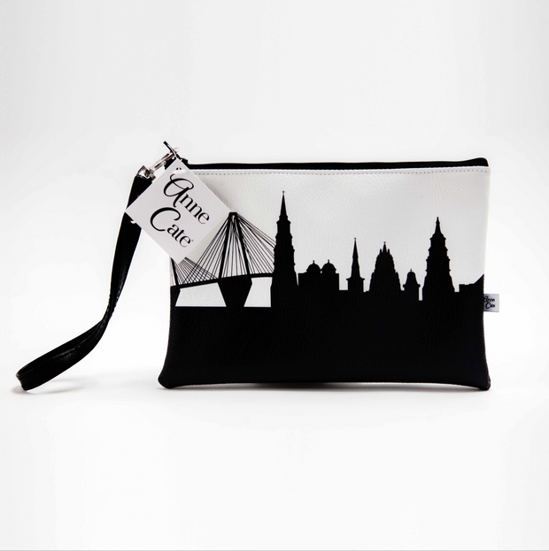 Portland OR Skyline Wristlet Clutch (Vegan Leather)