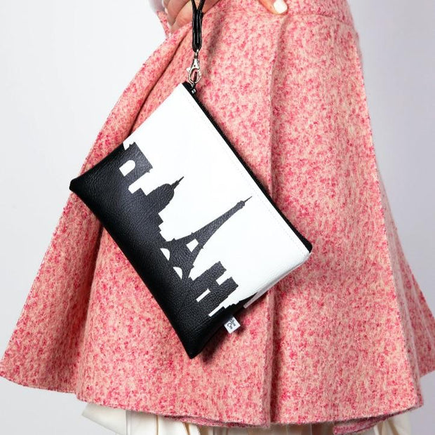 New Haven CT Skyline Wristlet Clutch (Vegan Leather)