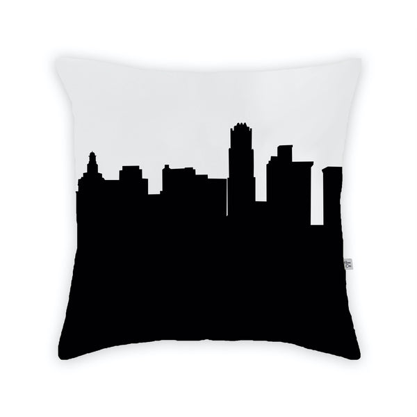 Youngstown Large Throw Pillow by Anne Cate