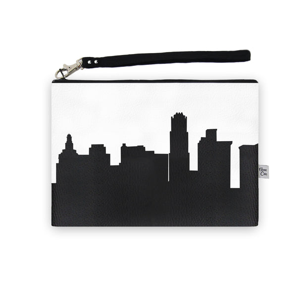 Youngstown OH Skyline Wristlet Clutch (Vegan Leather)