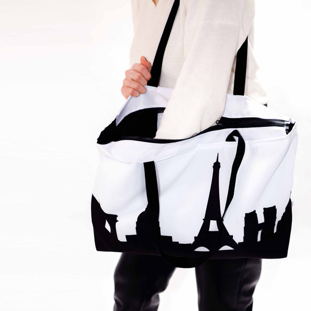 Hong Kong China Skyline Weekender Tote