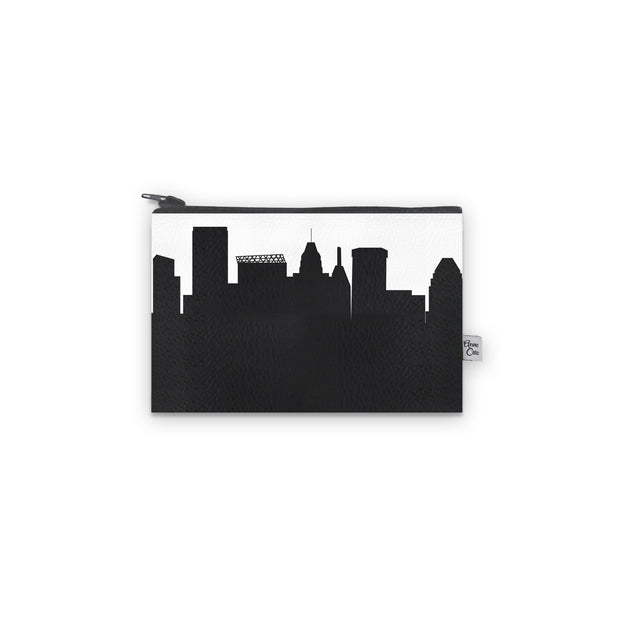 Baltimore MD Skyline Mini Wallet (Vegan Leather)