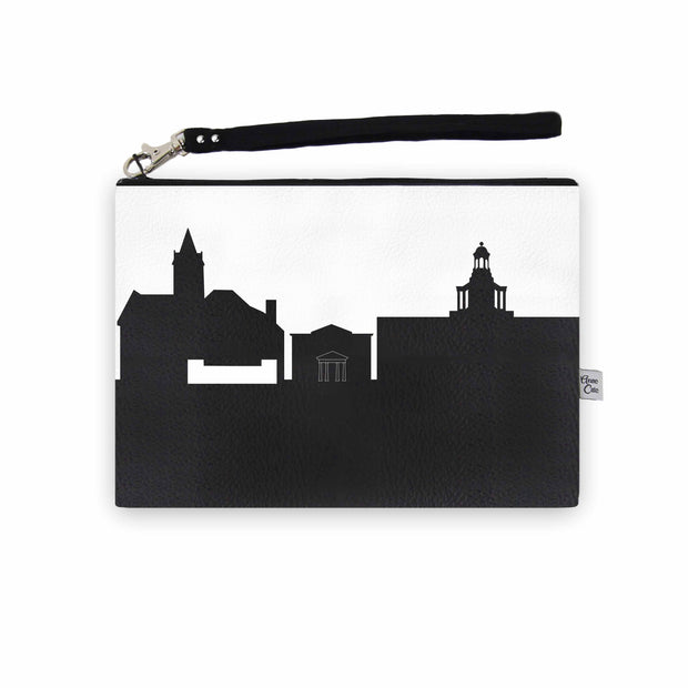 Delaware OH Skyline Wristlet Clutch (Vegan Leather)