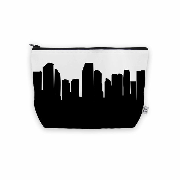Miami FL Skyline Cosmetic Makeup Bag