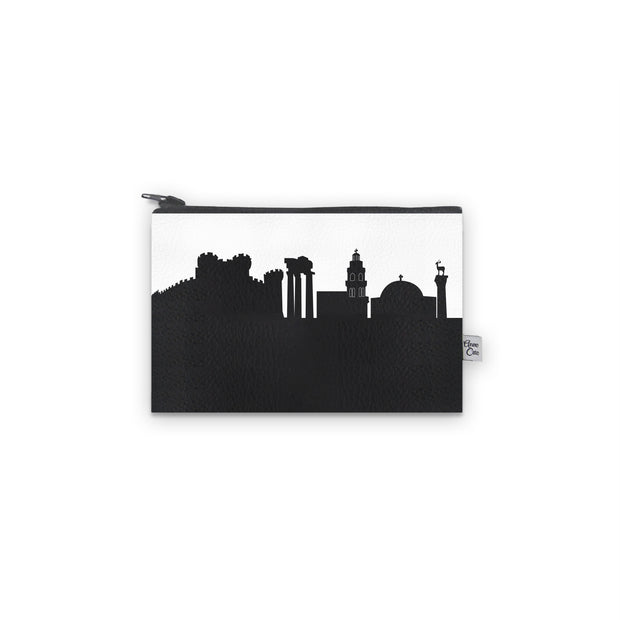 Rhodes Greece Skyline Mini Wallet (Vegan Leather)