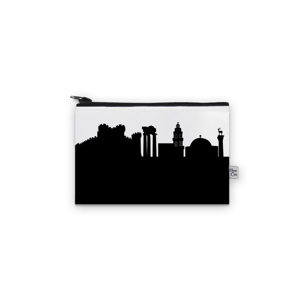 Rhodes Greece Skyline Mini Purse