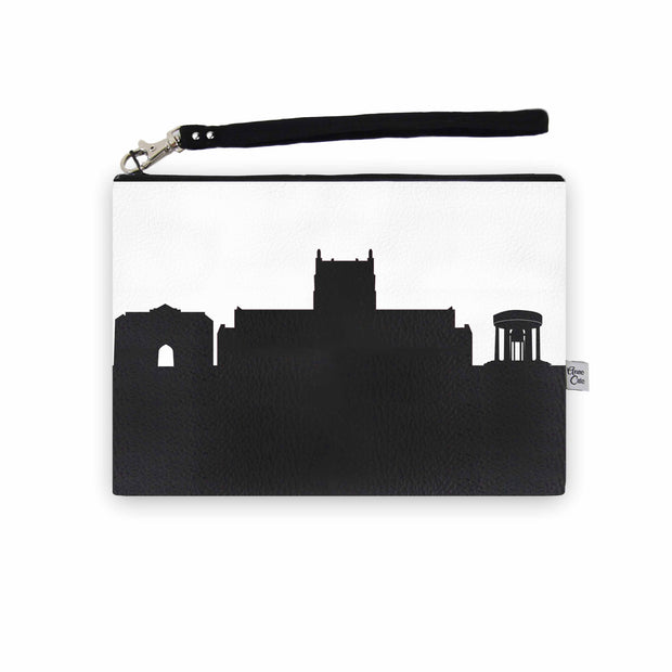 Tulsa OK (Univ. of Tulsa) Skyline Wristlet Clutch (Vegan Leather)