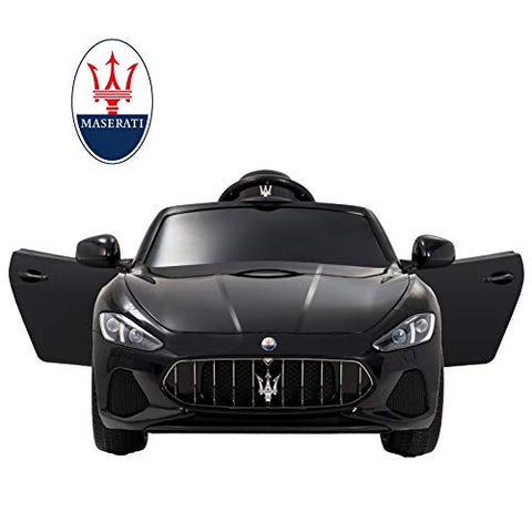 Maserati GranCabrio 12V Electric Kids Ride On Cars Motorized Vehicles - Black