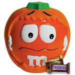 SNICKERS, MILKY WAY, 3 MUSKETEERS & Milk Chocolate M&M'S Halloween Candy Variety Mix 24.45-Ounce M&M'S Pumpkin Party Bowl