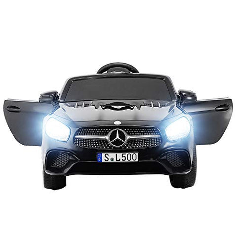 Mercedes-Benz SL500 Kids Ride On Car Electric Cars Motorized Vehicles for Kids- Black